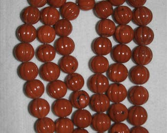 Coral, Natural Coral, 19-20 mm Coral Bead, Pumpkin Shape Bead, Color Enhanced, Apple Red Color, Organic Coral Bead, TWO BEADS, AdrianasBeads