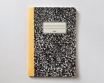 Yellow Notebook - Journal - Sketchbook - Blank pages - Lined pages