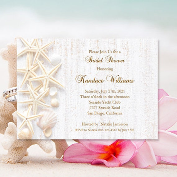 bridal shower invitations beach theme tropical wedding shower