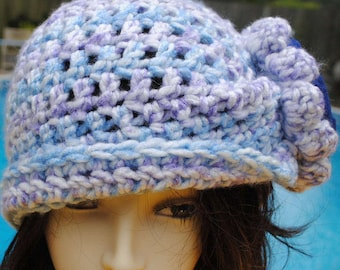 Handmade Vintage Style Crochet Cloche Bucket hat 22 inches