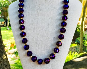 Purple Party Glass Necklace