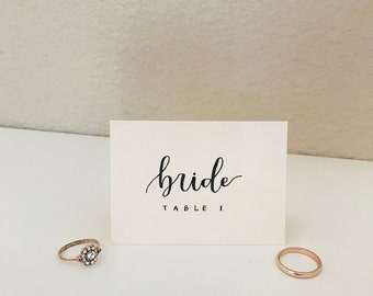 Wedding / Event Calligraphy Place Cards