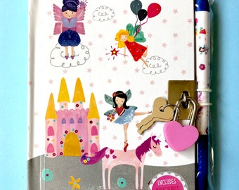 Fairy Unicorn Lockable Notebook and Scented Pen set