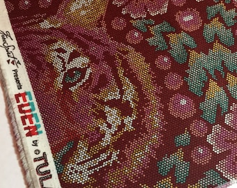 Tula Pink Fabric - Eden Collection TIGER PWTP077 Crouching Tiger in Tourmaline - FreeSpirit - 100% Cotton Yardage