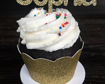 Custom Name Cupcake Toppers • First Birthday Toppers • Baby Shower Toppers • Wedding Cupcake Toppers • Food Picks