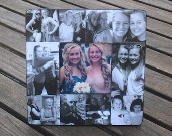 """Maid of Honor Collage Picture Frame, Personalized Sister Gift, Custom Bridesmaid Frame, Bridal Shower Gift Frame, Parent Gift, 8"""" x 8"""""""