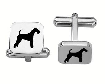 Airedale Terrier Cufflinks | Dog Cufflinks | Custom Cufflinks | Stainless Steel