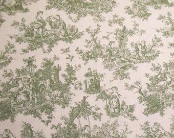 Sweet Pastimes color Green/Cream Window Curtain Valance