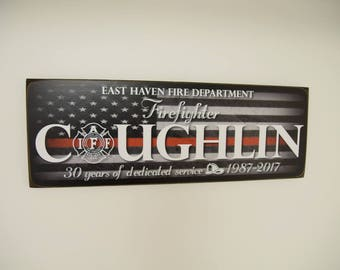 Firefighter Gift, Fireman Gift, Firefighter Name Sign, Firefighter Decor, Family Name, Fireman Decor, Fireman Sign, Fire Service, HeroSigns