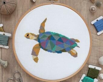 Turtle - Easy Cross Stitch Pattern PDF, Instant Download