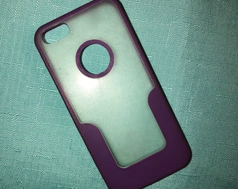 clear and purple iphone 5 case