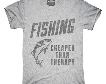 Fishing Cheaper Than Therapy T-Shirt, Hoodie, Tank Top, Gifts