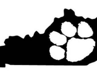 Kentucky Pawprint State Digital SVG File