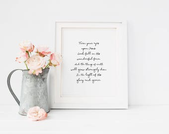 Hillsong lyric print etsy instant download turn your eyes turn your eyes upon jesus hymn printable worship song song printable christian lyrics printable stopboris Images