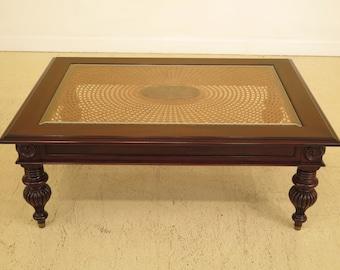 29931EC: ETHAN ALLEN British Classics Cane Top Coffee Table