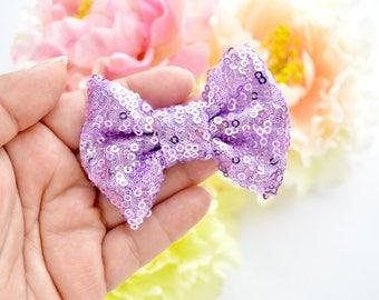 Mini Lavender Sparkle Bow