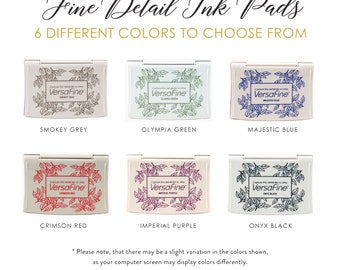 VersaFine Pigment-Based Ink Pads | Rubber Stamp Pad | 6 Colors to Choose From