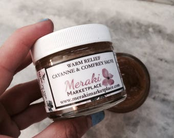 Warm Relief Cayenne and Comfrey Salve