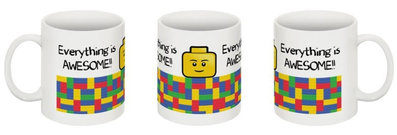 Everything is awesome Lego 11 oz unique mug kids