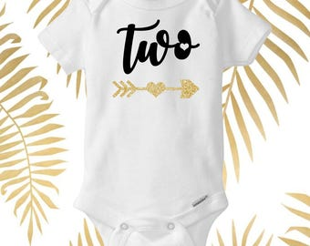 Two Year Old Onesie, Baby Shower Gift, Birthday Baby Shirt, Custom Baby Clothing