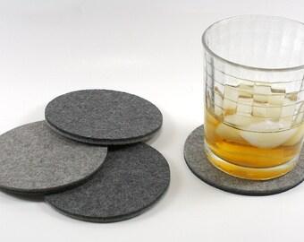 Round Coasters 5MM Thick Merino Modern Wool Felt Coasters for Drinks Coaster Set
