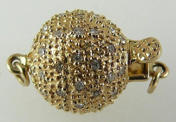 Diamond Clasp 0.35ct 14k Yellow Gold 11 mm