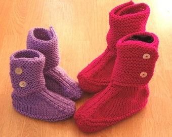 Slouch Slippers Knitting Pattern, House Boots Slippers, House Slippers Women, Womens Boot Slippers, House Shoes, House Slippers, pdf pattern