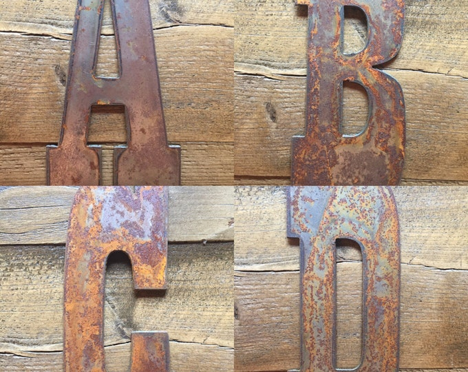 "Featured listing image: 6"" Rusty  Metal Letters - Make your own Sign, Gift, Art"