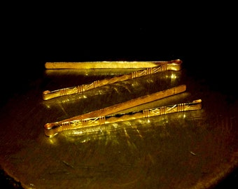 22k Gold Tie Pin Hair Clip Antique