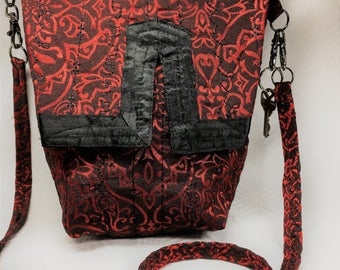 Oriental Red and Black Bag