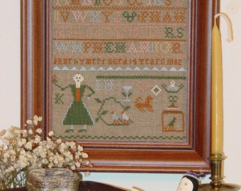Jane Hymers Sampler - 1802 Sampler Leaflet for Counted Cross Stitch - #41L