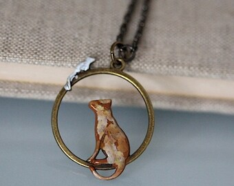 Kafka's SITUATION vintage chain cat mouse