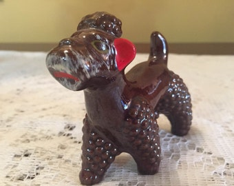 Mid-Century Redware Poodle