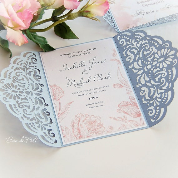 Wedding invitation Template filigree svg dxf cdr