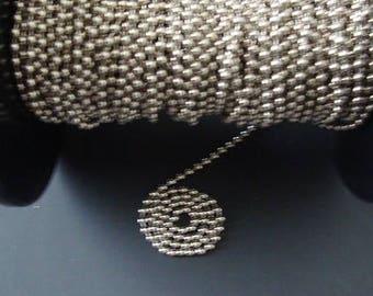 Ball Chain #10 Spool Nickel Plated Steel 10 Feet