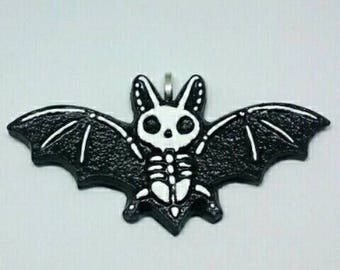 Bat Skeleton Necklace Pendant