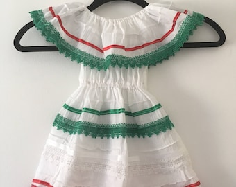 Campesino mexican tricolor dress
