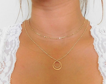 Gold Chain Necklace - Simple Gold Necklace - 14k Gold Filled Chain Necklace - Thin Gold Chain - Dainty Chain