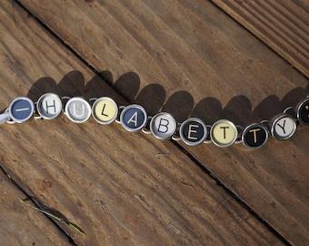 """SALE Typewriter key """"HULABETTY"""" Bracelet"""