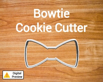 "4"" Bowtie Cookie Cutter (Object Set)"
