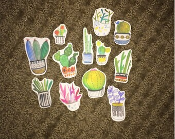 Potted Succulent Sticker Pack