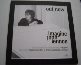 John Lennon Imagine  Original  Poster in A Custom Made Mount Ready To Frame