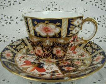 Vintage Royal Crown Derby Teacup and Saucer, England, OLD IMARI 2451