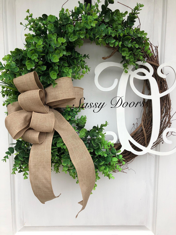 Everyday Wreath Eucalyptus Wreath Boxwood Wreath Greenery