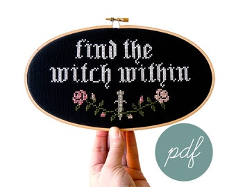 Find the Witch Within, Modern Cross Stitch *PDF Only