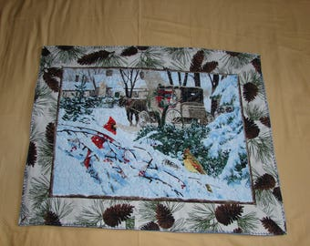 Three-pieces quilts set placemats for Coffee or Dinner Table