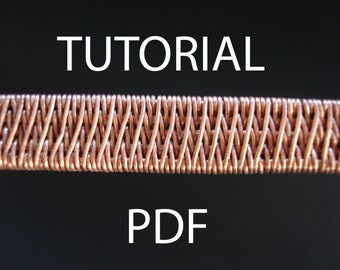 Wire weaving tutorial, wire wrapped jewelry tutorial, pdf jewelry tutorial, wire wrapped tutorial, jewelry tutotial, pdf tutorial, pdf