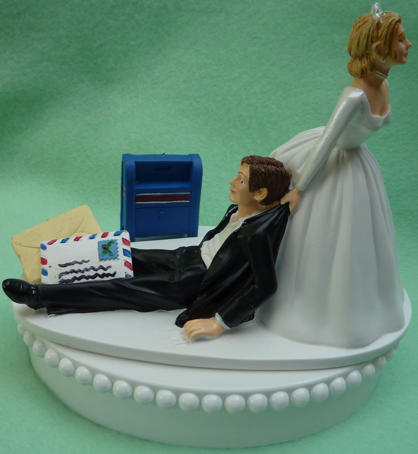 Wedding Cake Topper Mailman Mail Carrier Postal Post Office