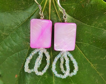 Pink Double Looped Earrings