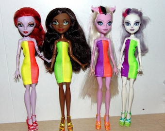 Puppet dress, Monster High, Ever After High, Clothes for dolls, doll fashion